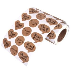 250 pieces Kraft brown paper thank you stickers